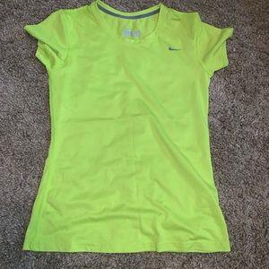 Nike DriFit top neon green size Small